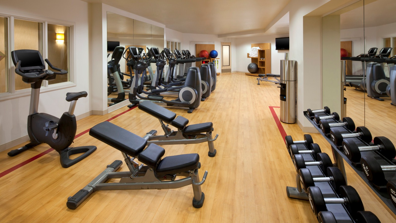 Stay active at the Sheraton Sonoma County - Petaluma hotel fitness center.